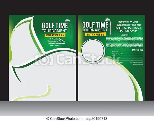 Golf Flyer Template Vector Illustration Vector Clip Art Search