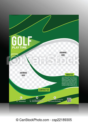Golf Flyer Template Vector Illustation Vector Clipart Search