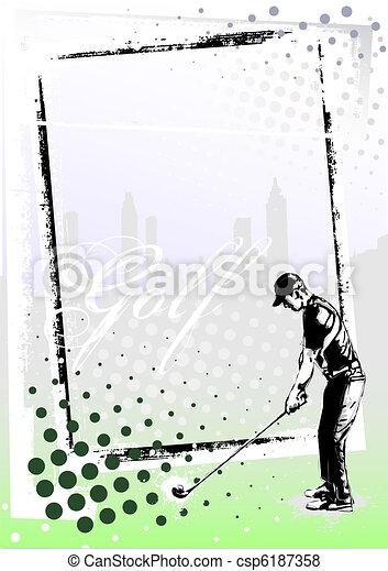 golf frame 2 - csp6187358