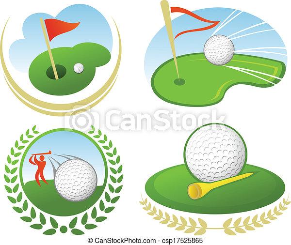 golf, icône - csp17525865