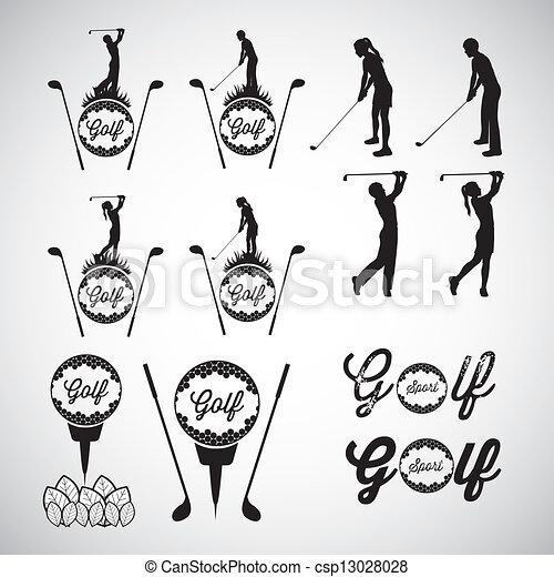 iconos de golf - csp13028028