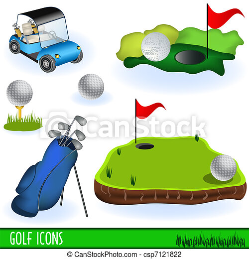 iconos de golf - csp7121822