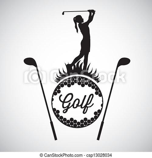 iconos del golf - csp13028034