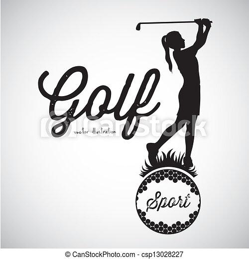 Golf Icons - csp13028227
