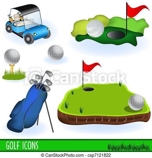 Golf Icons - csp7121822
