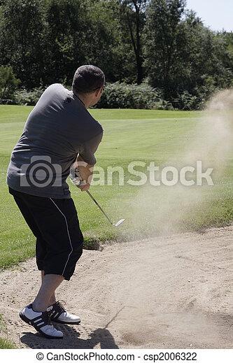 golf in bunker - csp2006322