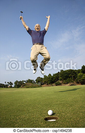 golf., jouer, homme - csp1494238