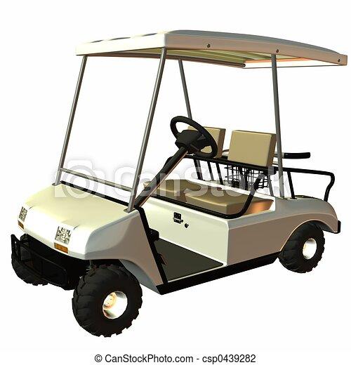 golf kar - csp0439282
