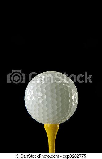 golf labda, closeup - csp0282775