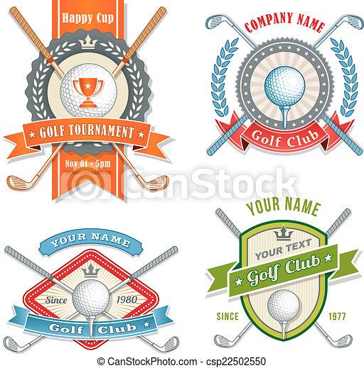 golf, logos, club - csp22502550