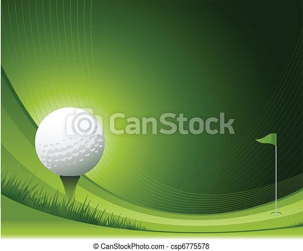 Fondo de golf - csp6775578