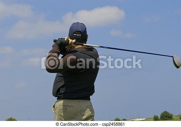golf player - csp2458861
