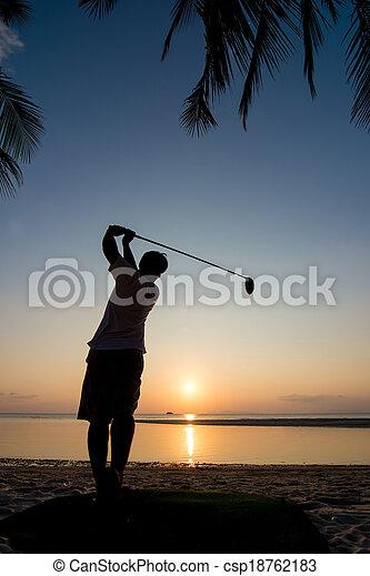 golf player - csp18762183