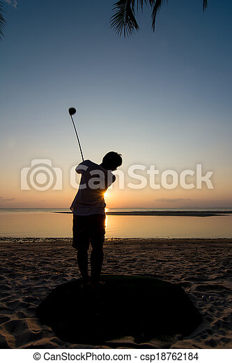 golf player - csp18762184