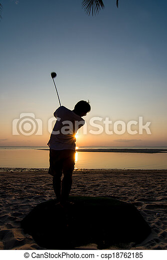 golf player - csp18762185