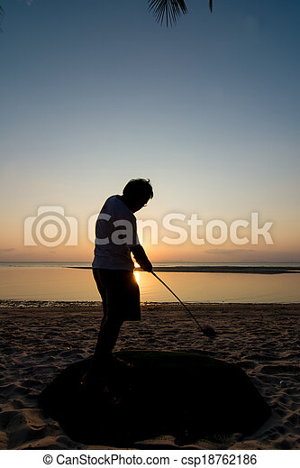 golf player - csp18762186