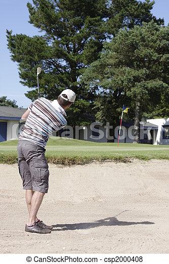 golf player - csp2000408