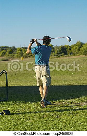 golf player - csp2458928