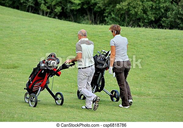 golf player - csp6818786
