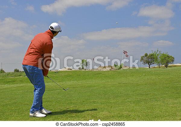 golf player - csp2458865
