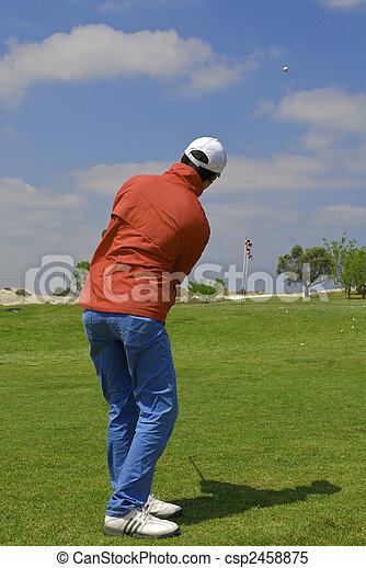 golf player - csp2458875