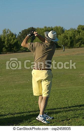 golf player - csp2458935