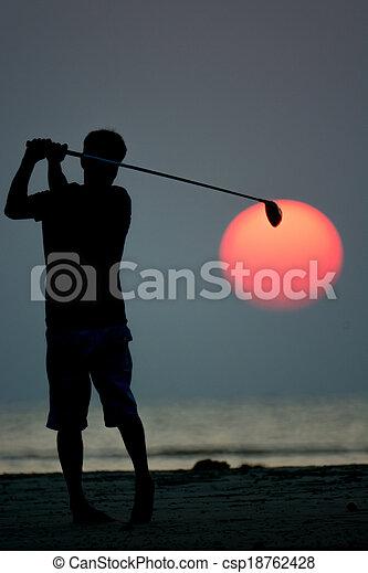 golf player - csp18762428