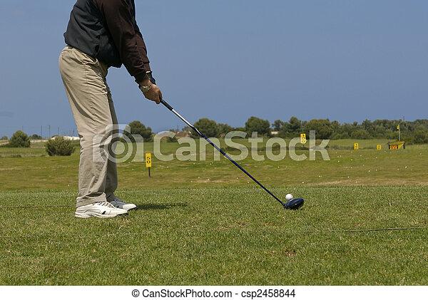 golf player - csp2458844