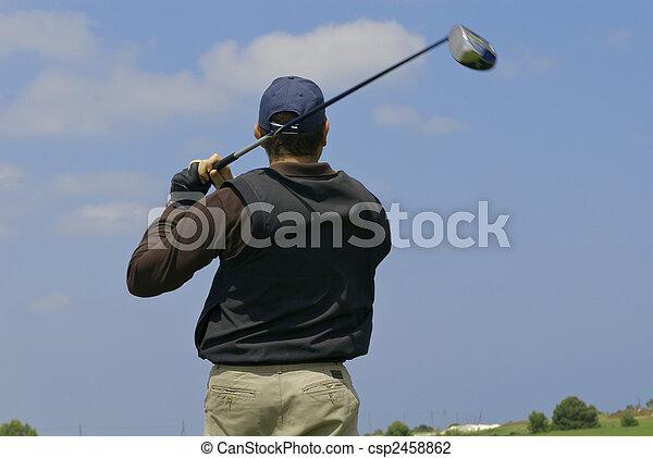 golf player - csp2458862