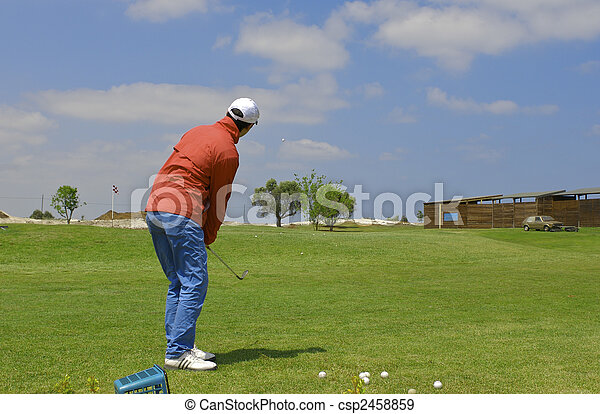 golf player - csp2458859
