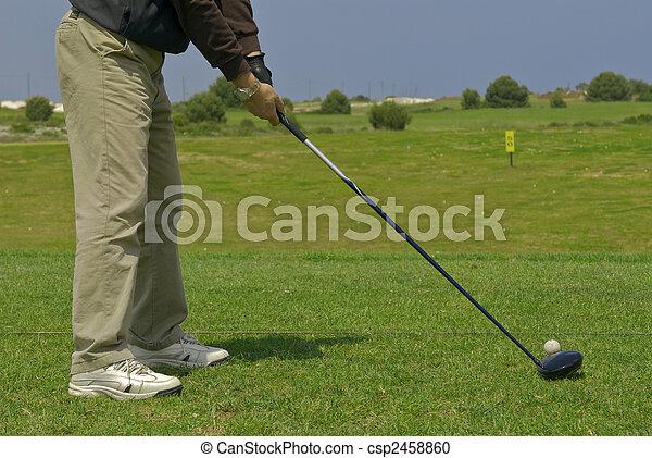 golf player - csp2458860
