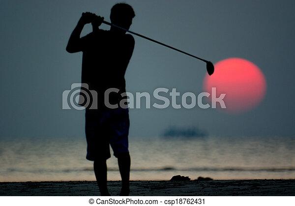golf player - csp18762431