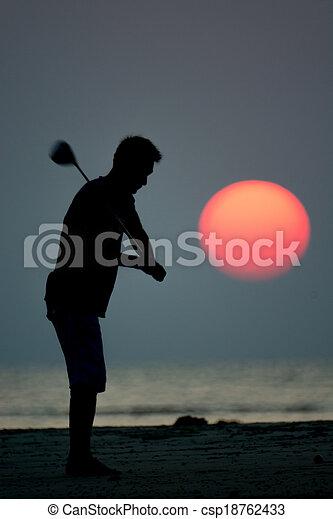 golf player - csp18762433