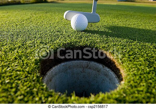 Golf Putt - csp2156817