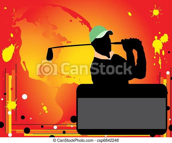golf, reklama - csp6842248