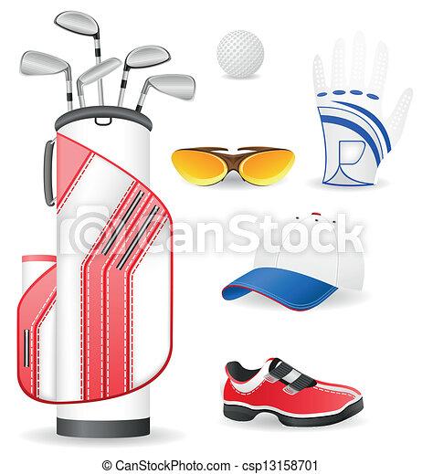 Equipamiento y ropa para el golf - csp13158701