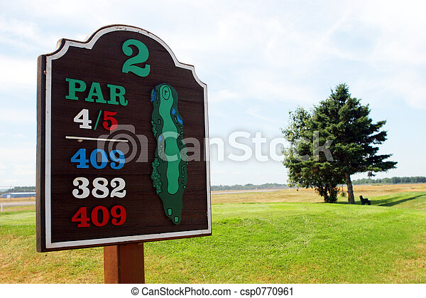 Golf sign - csp0770961
