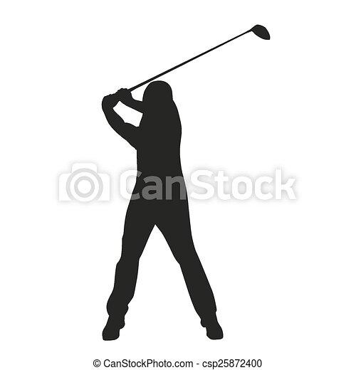 Golf Swing Vector Golfer Silhouette