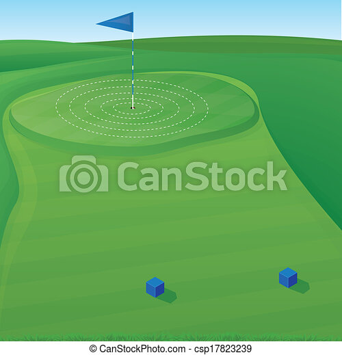Golf Target Illustration Golf Course Background Illustration With Target Circles
