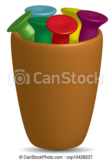 Golf Tees in a cup,vector - csp10428237