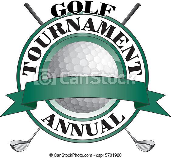 golf tournament design illustration of an annual golf tournament