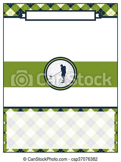 Golf Tournament Flyer Blank Template A Template For A Golf