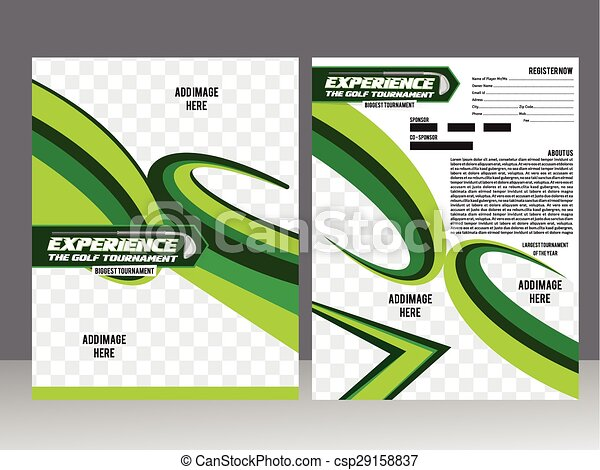 Golf Tournament Flyer Template Design Vector Illustration