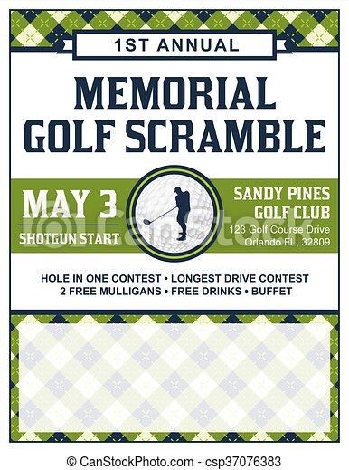 Golf Tournament Flyer Template | Golf Tournament Flyer Template A Template For A Golf Tournament