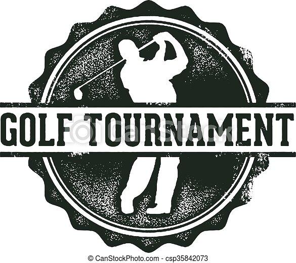 Golf Tournament Stamp - csp35842073