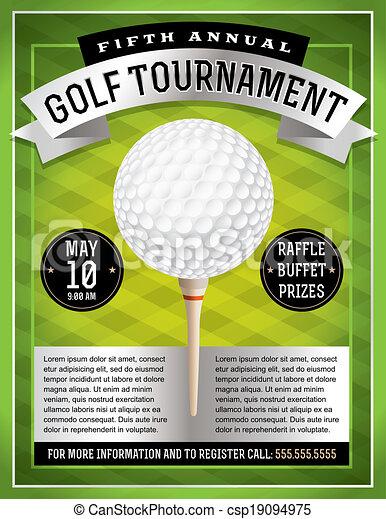Turnier golfen Illustrationen und Clip Art. 5.844 Turnier golfen ...
