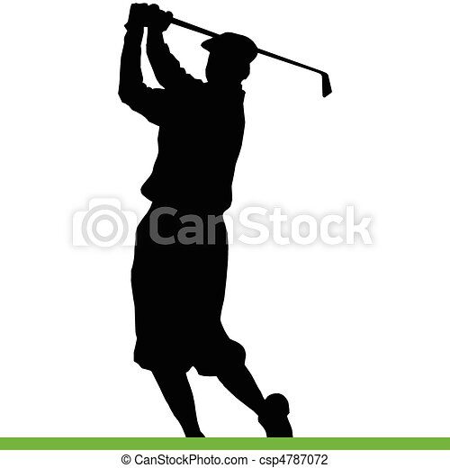 Golfer Black Silhouettes