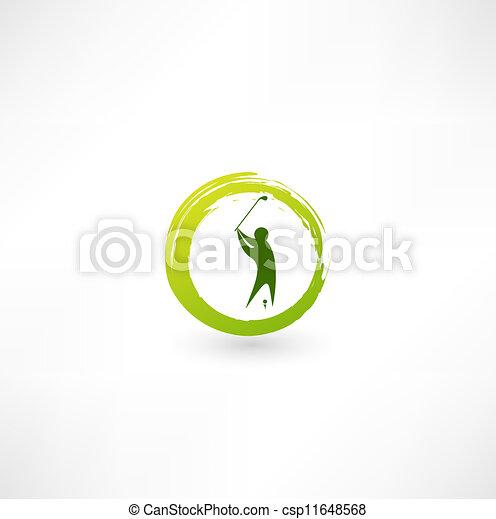 Golfer icon. - csp11648568