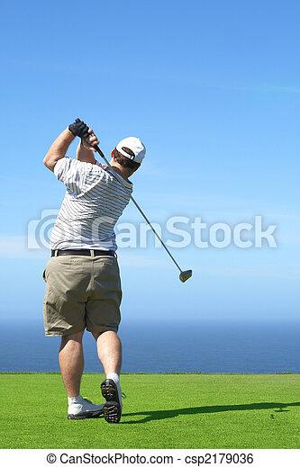 Golfer on the tee box - csp2179036