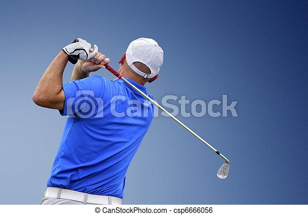golfer shooting a golf ball  - csp6666056